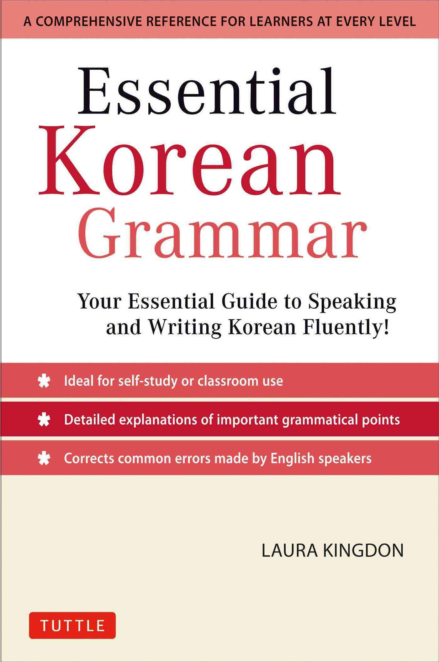 Essential Korean Grammar By Kingdon, Laura